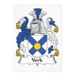 Escudo de la familia de York Comunicado Personalizado