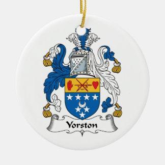 Escudo de la familia de Yorston Ornaments Para Arbol De Navidad