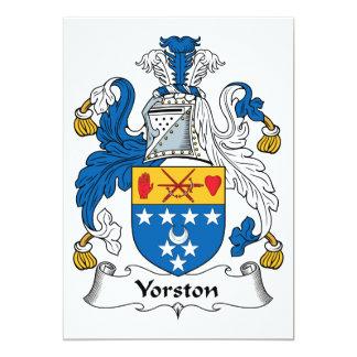 Escudo de la familia de Yorston Invitación 12,7 X 17,8 Cm