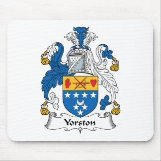 Escudo de la familia de Yorston Tapete De Ratón