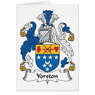 Escudo de la familia de Yorston Felicitación