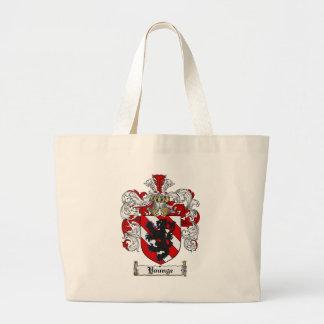 Escudo de la familia de Younge del escudo de armas Bolsa Tela Grande