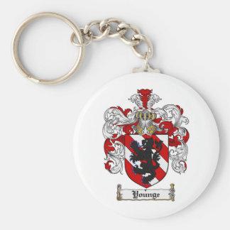 Escudo de la familia de Younge del escudo de armas Llavero Redondo Tipo Pin