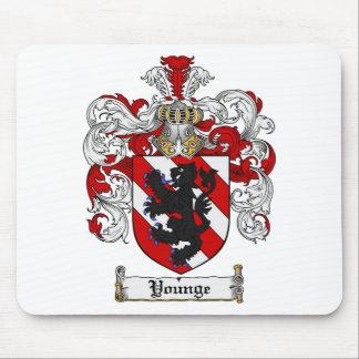 Escudo de la familia de Younge del escudo de armas Tapetes De Ratón