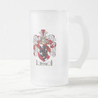 Escudo de la familia de Younge del escudo de armas Taza De Cristal