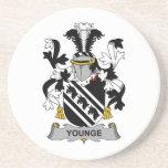 Escudo de la familia de Younge Posavasos Cerveza