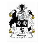 Escudo de la familia de Younge Tarjeta Postal