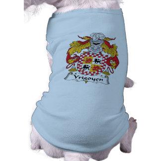 Escudo de la familia de Yrigoyen Ropa Perro