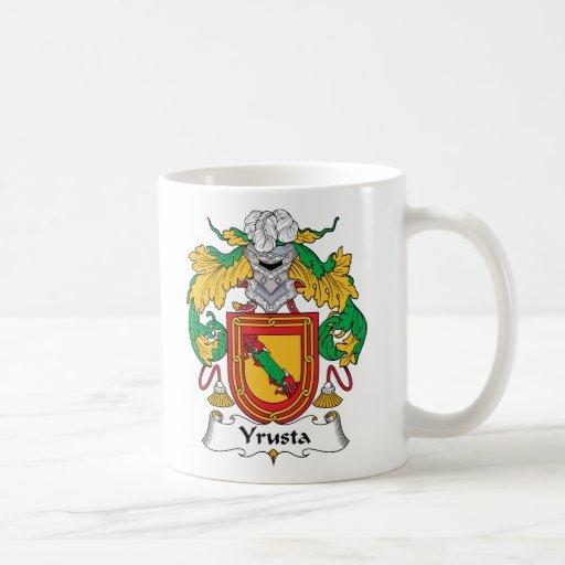 Escudo de la familia de Yrusta Taza Básica Blanca