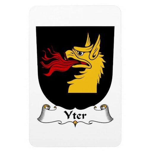 Escudo de la familia de Yter Imanes De Vinilo