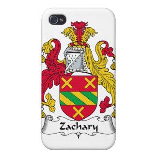 Escudo de la familia de Zacarias iPhone 4 Protectores