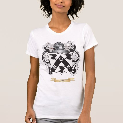 Escudo de la familia de Zacchi (escudo de armas) Camiseta
