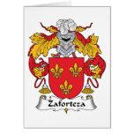 Escudo de la familia de Zaforteza Tarjetas