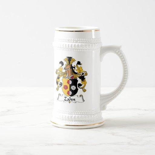 Escudo de la familia de Zahn Jarra De Cerveza