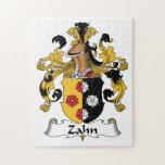 Escudo de la familia de Zahn Rompecabezas