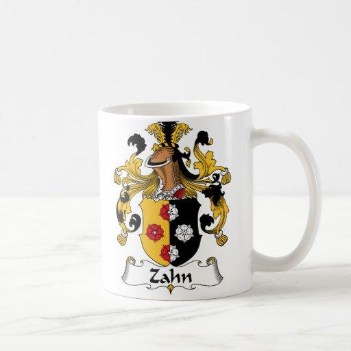 Escudo de la familia de Zahn Taza De Café