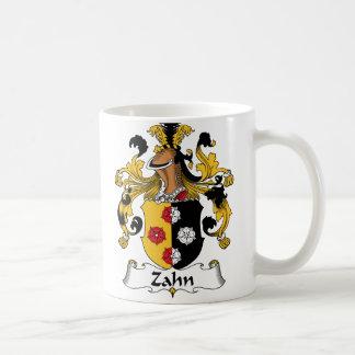 Escudo de la familia de Zahn Tazas De Café