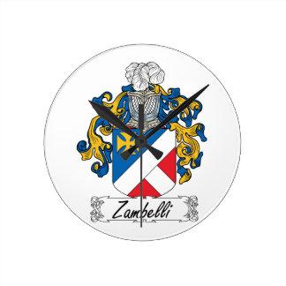 Escudo de la familia de Zambelli Relojes