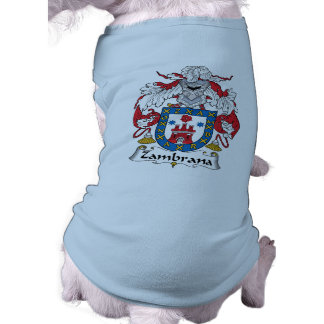 Escudo de la familia de Zambrana Camisetas De Mascota