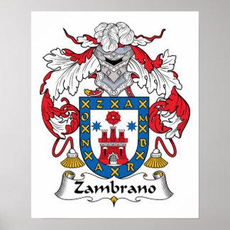 Escudo de la familia de Zambrano Posters