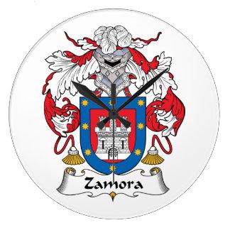 Escudo de la familia de Zamora Reloj Redondo Grande