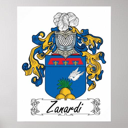 Escudo de la familia de Zanardi Póster