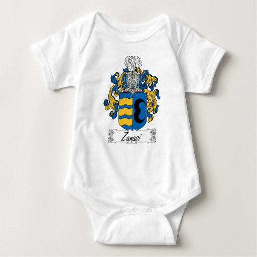Escudo de la familia de Zanasi Body Para Bebé