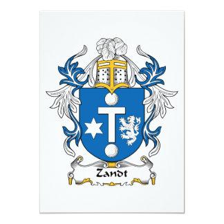 """Escudo de la familia de Zandt Invitación 5"""" X 7"""""""