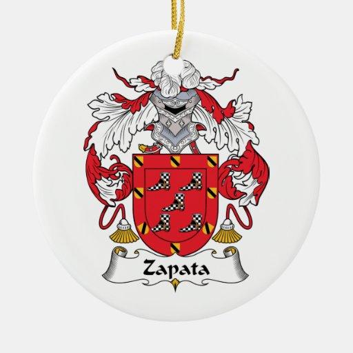 Escudo de la familia de Zapata Adorno Redondo De Cerámica