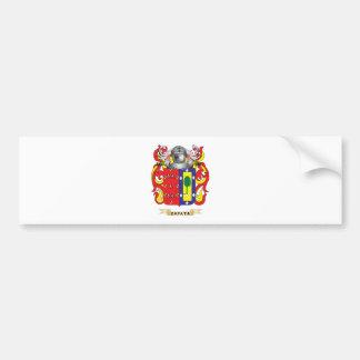 Escudo de la familia de Zapata (escudo de armas) Etiqueta De Parachoque