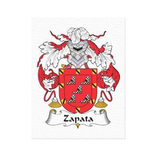 Escudo de la familia de Zapata Lona Envuelta Para Galerias