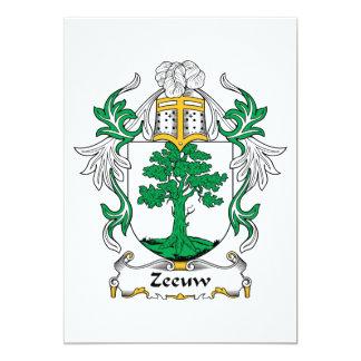 """Escudo de la familia de Zeeuw Invitación 5"""" X 7"""""""