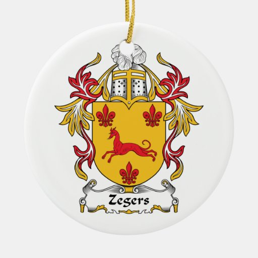 Escudo de la familia de Zegers Adorno Redondo De Cerámica