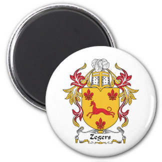 Escudo de la familia de Zegers Imán Redondo 5 Cm