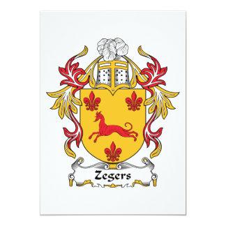 """Escudo de la familia de Zegers Invitación 5"""" X 7"""""""