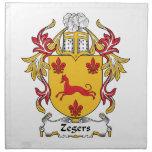 Escudo de la familia de Zegers Servilletas
