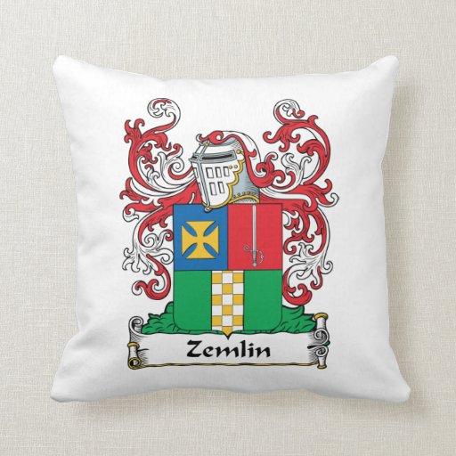 Escudo de la familia de Zemlin Almohadas