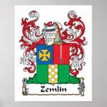 Escudo de la familia de Zemlin Impresiones