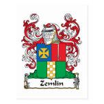 Escudo de la familia de Zemlin Tarjetas Postales