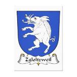 Escudo de la familia de Zgloltzweil Impresiones En Lona Estiradas