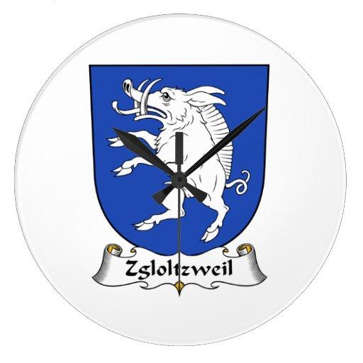 Escudo de la familia de Zgloltzweil Relojes De Pared