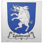 Escudo de la familia de Zgloltzweil Servilletas Imprimidas
