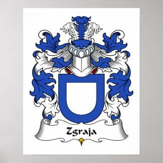 Escudo de la familia de Zgraja Póster