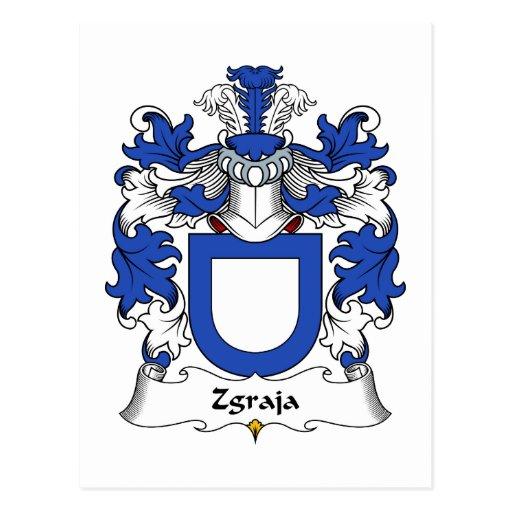 Escudo de la familia de Zgraja Tarjetas Postales