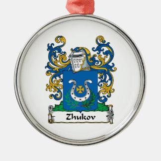 Escudo de la familia de Zhukov Adorno Navideño Redondo De Metal