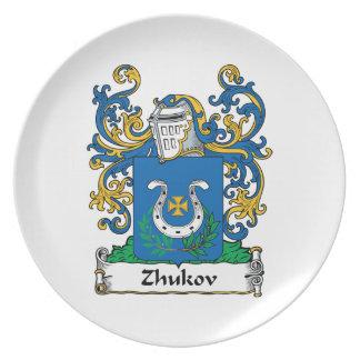 Escudo de la familia de Zhukov Plato De Comida