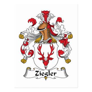 Escudo de la familia de Ziegler Postal