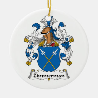 Escudo de la familia de Zimmerman Adorno Navideño Redondo De Cerámica