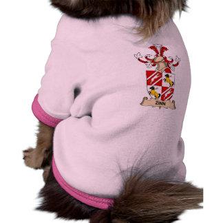 Escudo de la familia de Zinn Camisetas De Perrito