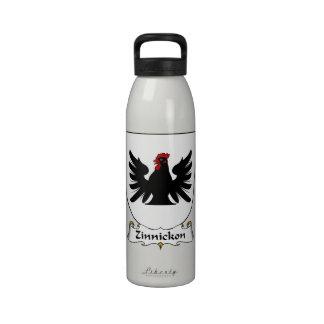 Escudo de la familia de Zinnickon Botellas De Agua Reutilizables